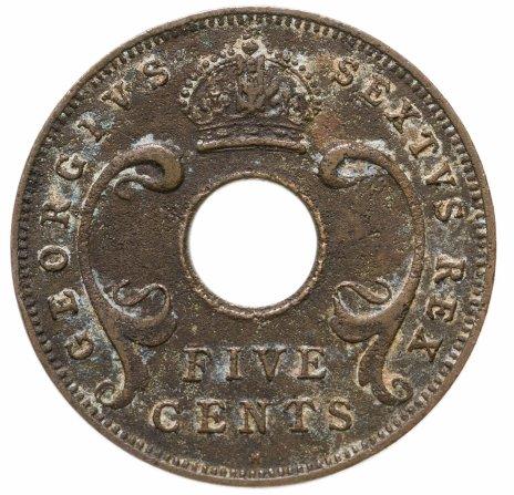 купить Британская Восточная Африка 5 центов 1951