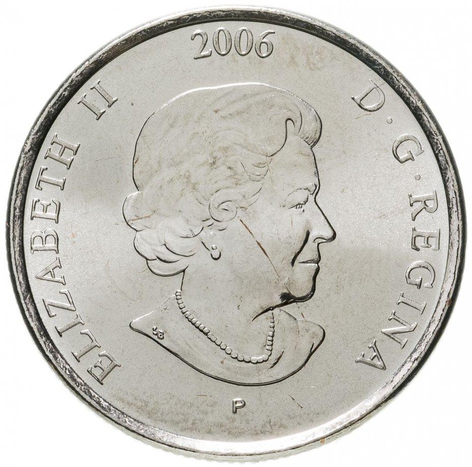 """купить Канада 25 центов (cents) 2006 """"Розовая ленточка - Борьба с раком молочной железы"""""""