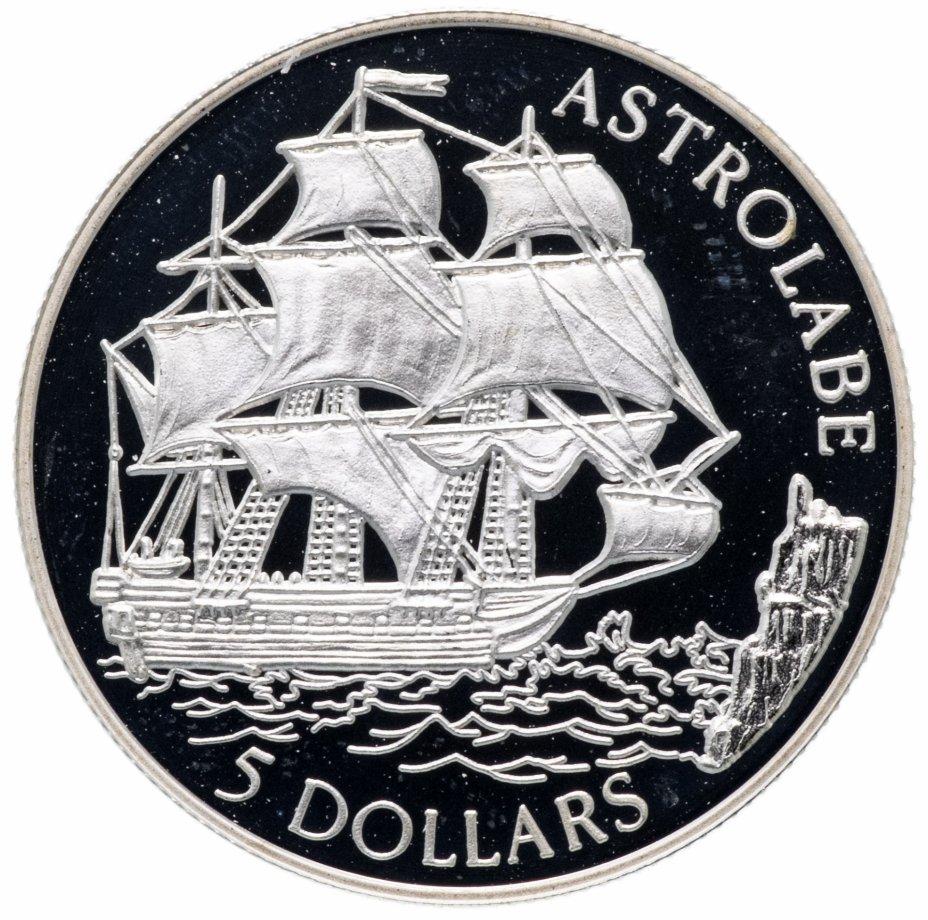 """купить Острова Кука 5 долларов 1992 """"500 лет открытию Америки"""""""
