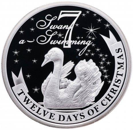 """купить Остров Ниуэ 2 доллара 2009 """"12 дней рождества: день 7-й, лебеди"""""""