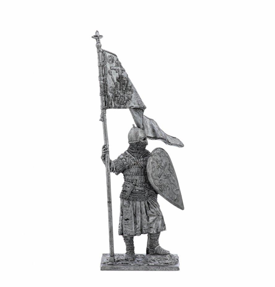 купить Оловянный солдатик, Русский дружинник со стягом, 13 век , Россия, 2021