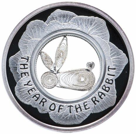 """купить Фиджи 1 доллар 2011 """"Год кролика. Филигранный кролик"""" в футляре"""