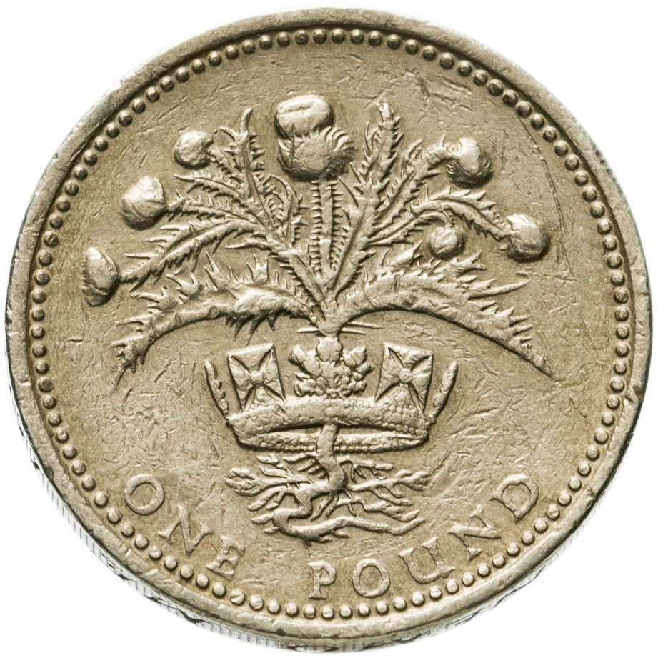 купить Великобритания  1 фунт (pound) 1984 Репейник в короне