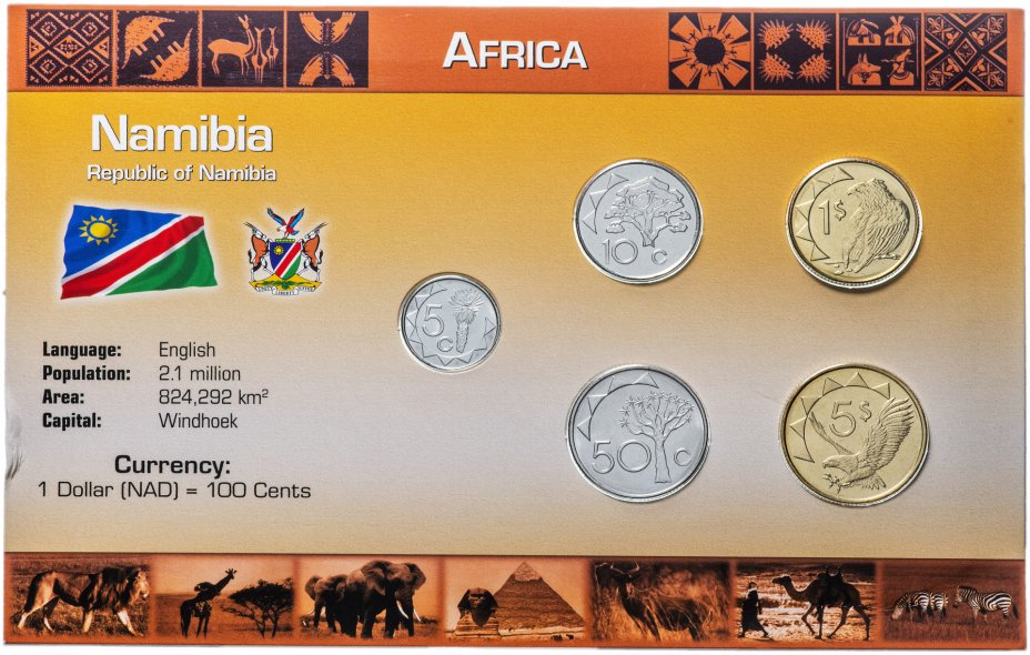 купить Намибия набор монет 1993-2008 (5 монет в буклете)