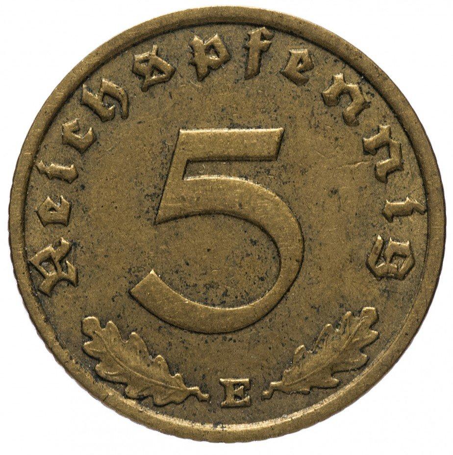 """купить 5 рейх пфеннигов 1938 """"Е"""""""