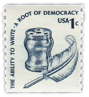 """купить США 1 цент 1977 """"Чернильница и перо"""""""