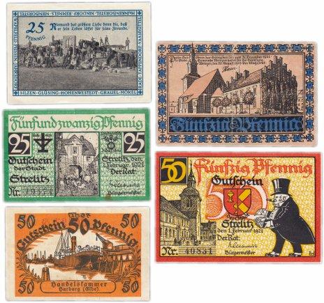 купить Германия (разные земли) набор из 5 нотгельдов 1918-1922