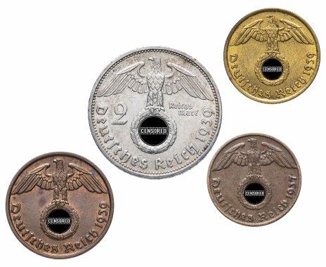 купить Нацистская Германия (Третий рейх) набор из 4 монет 1937 - 1939 гг.