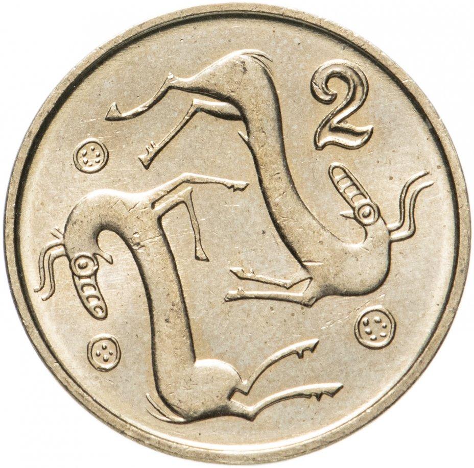 купить Кипр 2 цента (cents) 1991-2004, случайная дата