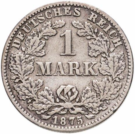 """купить Германия 1 марка (mark) 1875 C  знак монетного двора: """"C"""" - Франкфурт-на-Майне"""