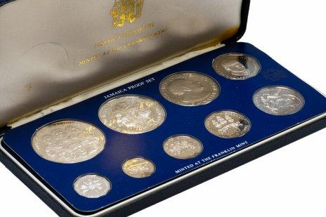 купить Ямайка годовой набор из 9 монет 1978, в запайке и футляре