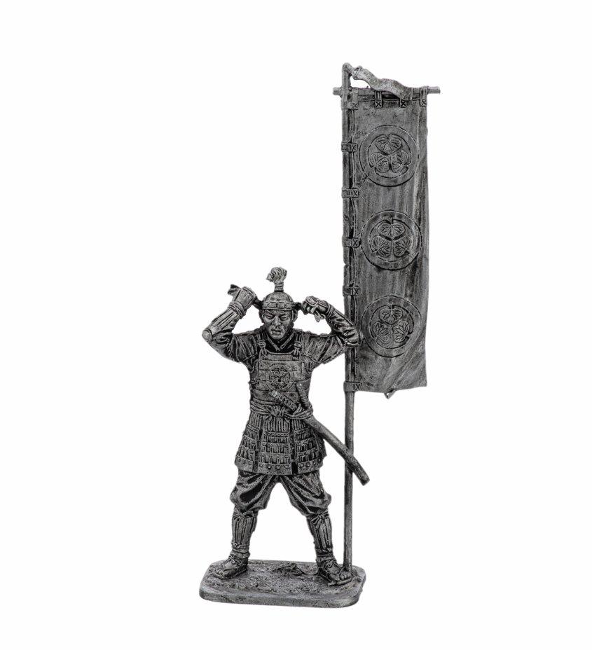купить Оловянный солдатик, Асигару с флагом,  1600 год , Россия, 2021