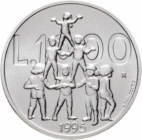 """купить Сан-Марино 1000 лир (lire) 1995 """"Детская пирамида"""""""