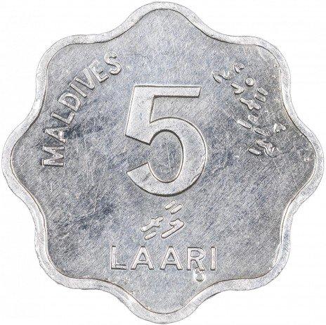 купить Мальдивы 5 лари 1984