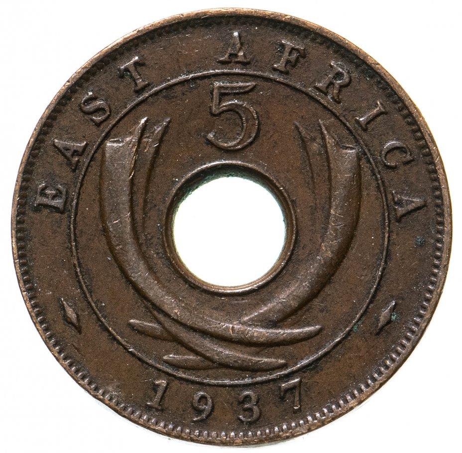 купить Британская Восточная Африка 5 центов (cents) 1937 H
