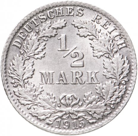 """купить Германия 1/2 марки 1915""""D"""""""