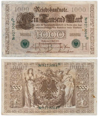 купить Германия 1000 марок 1910 (Pick 44b)