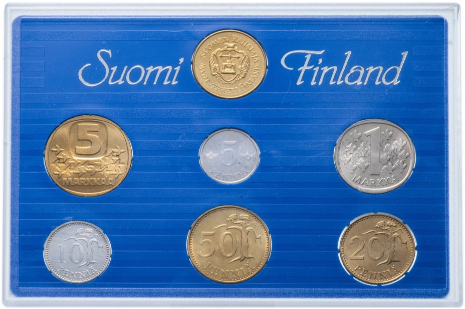 купить Финляндия набор монет 1989 (6 монет + жетон)