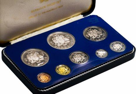 купить Барбадос годовой набор из 8 монет 1978, в запайке и футляре