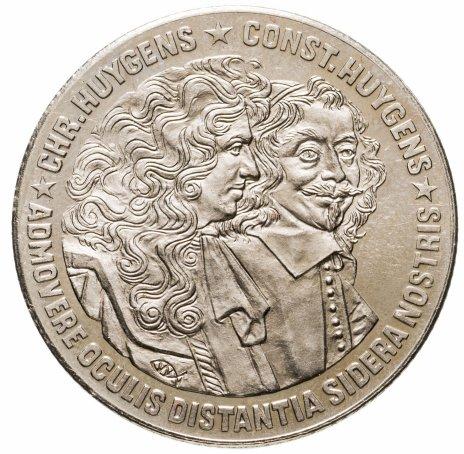 купить Нидерланды 10 экю 1989 Константин и Кристиан Гюйгенс