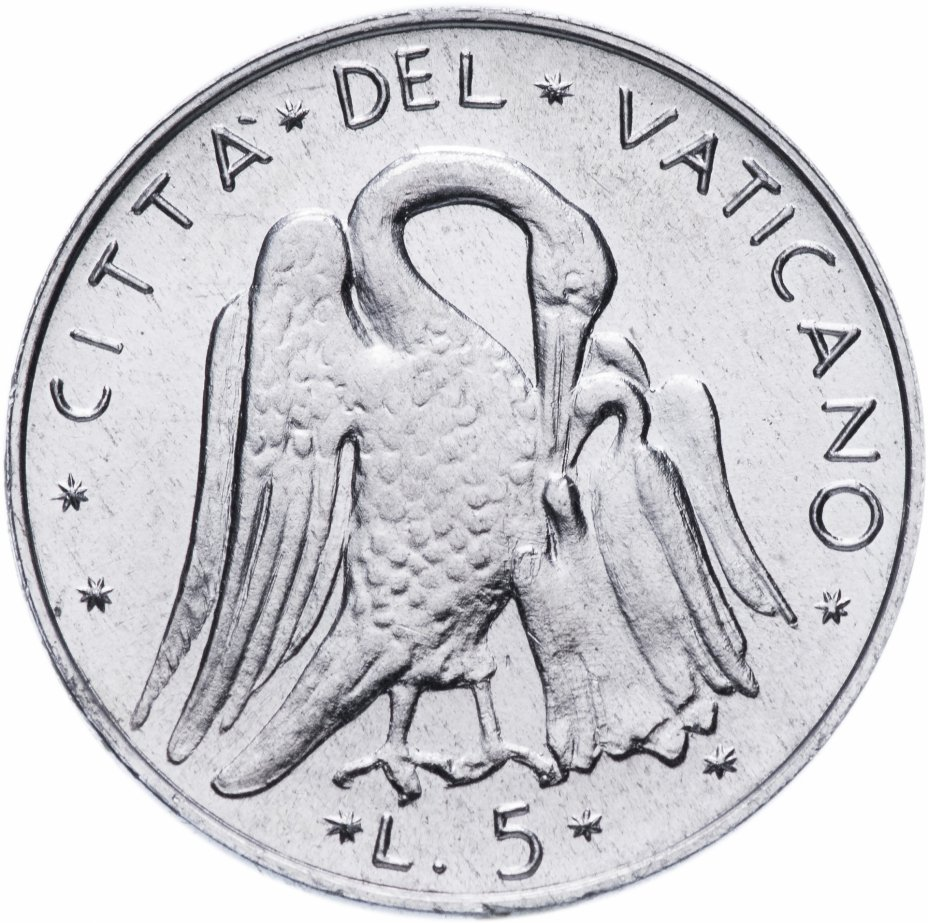 купить Ватикан 5 лир 1972