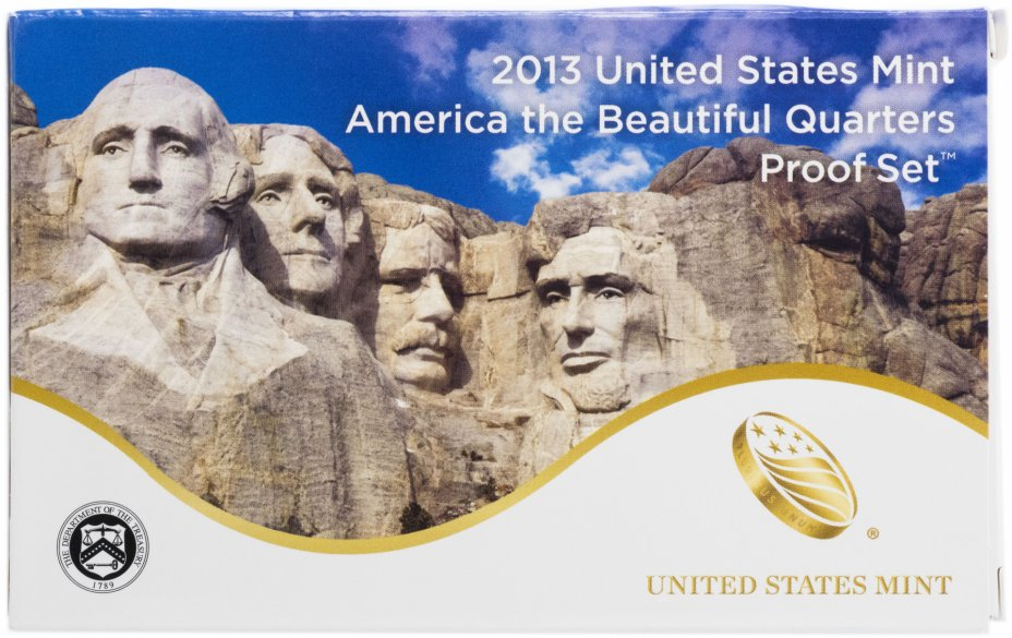 """купить США набор квотеров из серии """"Прекрасная  Америка"""" 2013 S (5 штук)"""