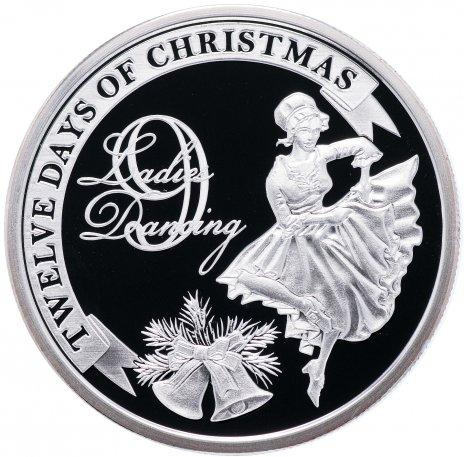 """купить Остров Ниуэ 2 доллара 2009 """"12 дней рождества: день 9-й, танцующие леди"""""""