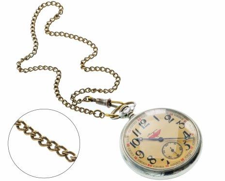 купить Часы карманные «Молния», с шатленом, сталь, Челябинский часовой завод, СССР, 1970-1980 гг.
