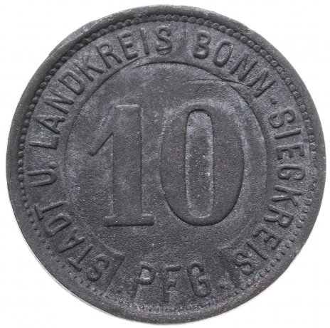 купить Германия (Бонн-Зиг) нотгельд  10 пфеннигов 1919