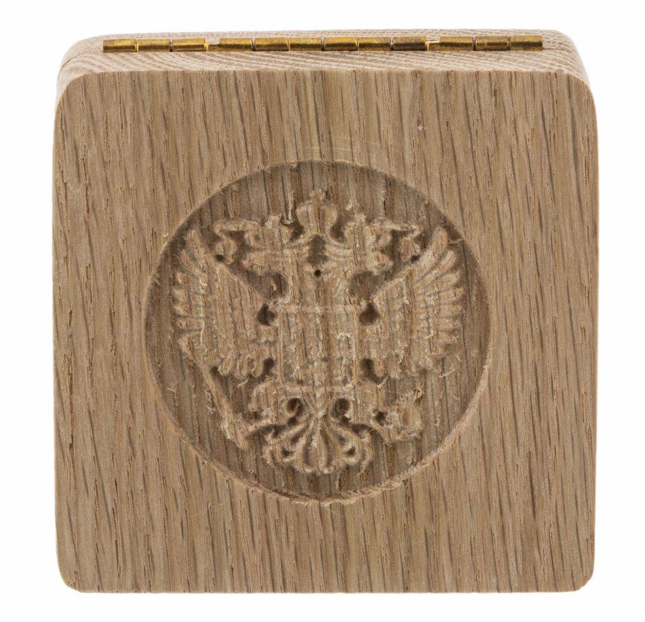 купить Футляр деревянный для 1 монеты (слэб дуба, массив)