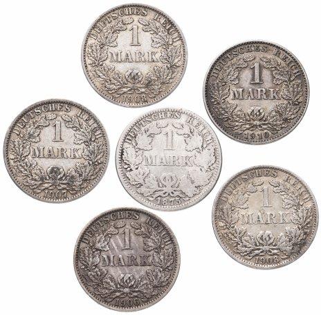 купить Германия набор из 6 монет 1 марка 1875-1910