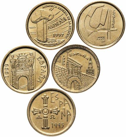 купить Испания набор монет 5 песет 1995-1999 (5 штук)