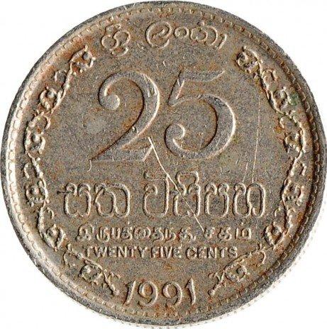 купить Шри-Ланка 25 центов 1991- 2004, случайная дата