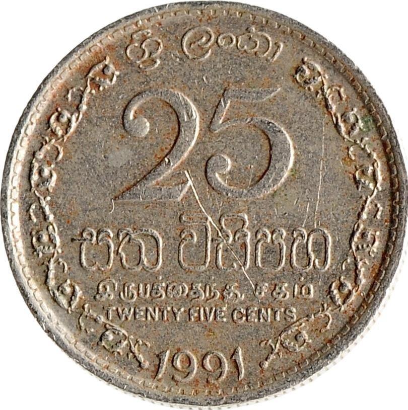купить Шри-Ланка 25 центов (cents) 1975-1994, случайная дата