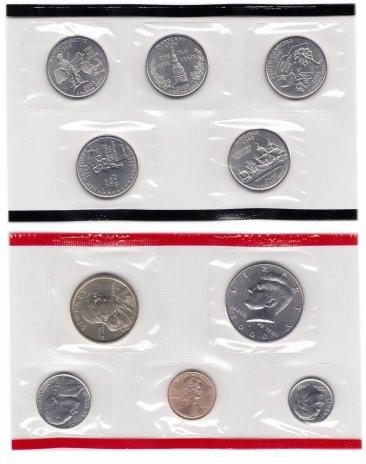 купить США годовой набор 2000 D (10 монет) в запайке