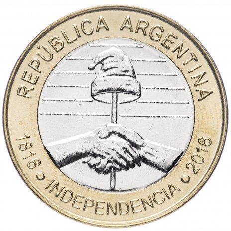 """купить Аргентина 2 песо (pesos) 2016 """"200 лет Независимости"""""""