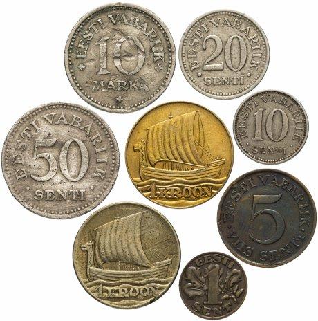 купить Эстония набор из 8 монет 1925-1990