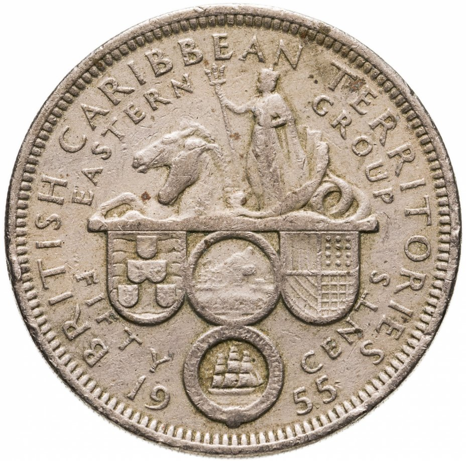 купить Восточные Карибы 50 центов (cents) 1955