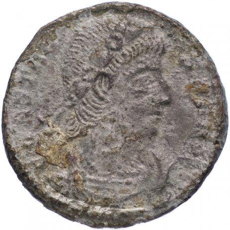 купить Римская Империя Констант 333–350 гг фоллис (реверс: два воина стоят лицом друг к другу, между ними штандарт с изображением христограммы)