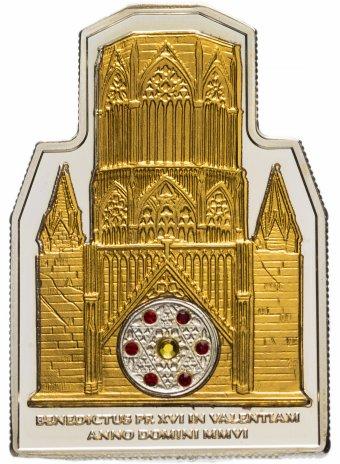 купить Острова Кука 5 долларов 2006 Визит Папы в Валенсию с позолотой и кристаллами Сваровски