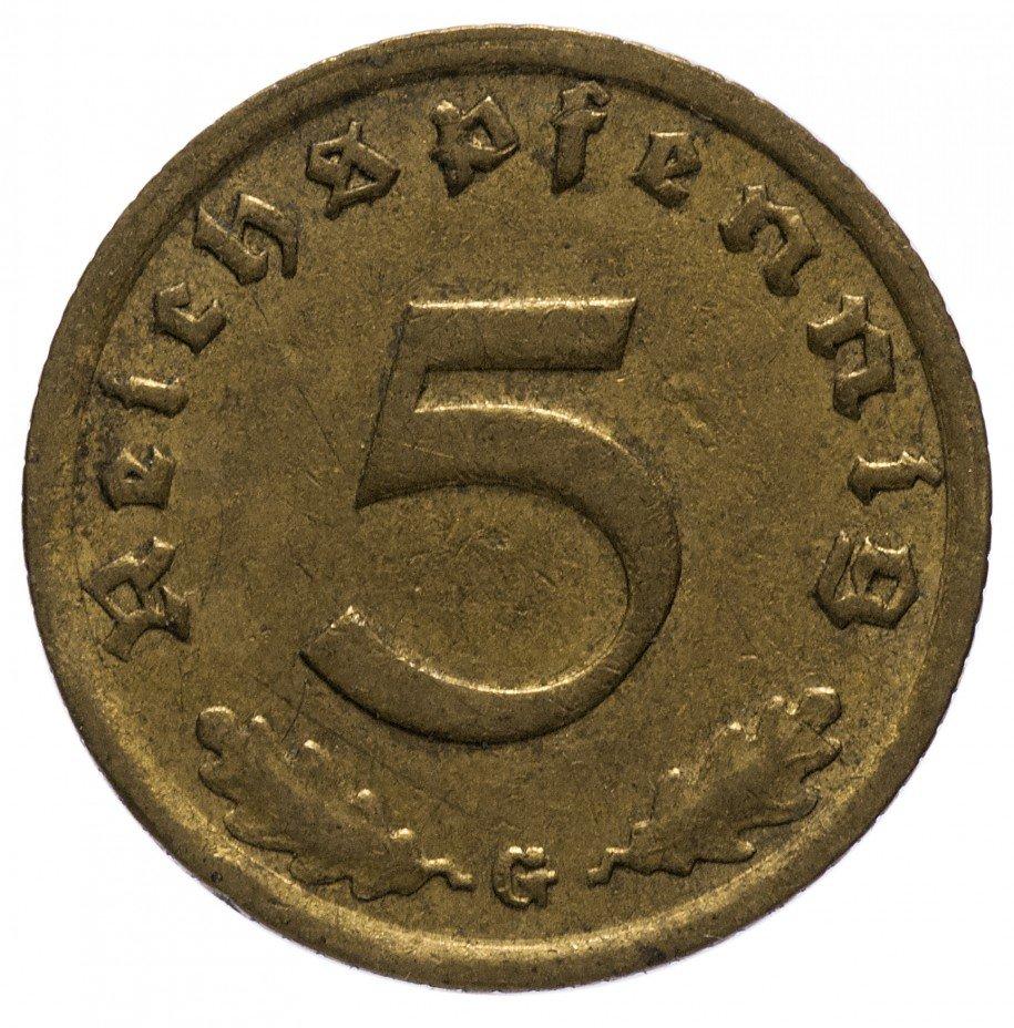 """купить 5 рейх пфеннигов 1938 """"G"""""""