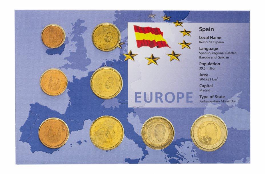 купить Испания набор монет евро 1999-2002 (8 монет в буклете)