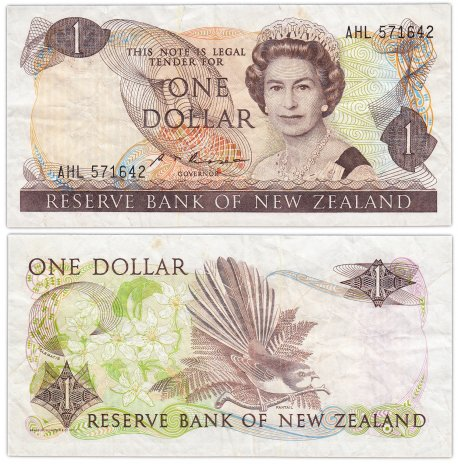купить Новая Зеландия 1 доллар  1981-85 (Pick 169b)
