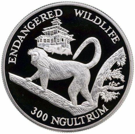 купить Бутан 300 нгултрумов (ngultrums) 1992   Вымирающие виды - Золотая обезьяна Лангур