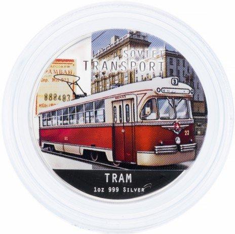 """купить Остров Ниуэ 2 доллара 2010 """"Советский транспорт: Трамвай"""""""