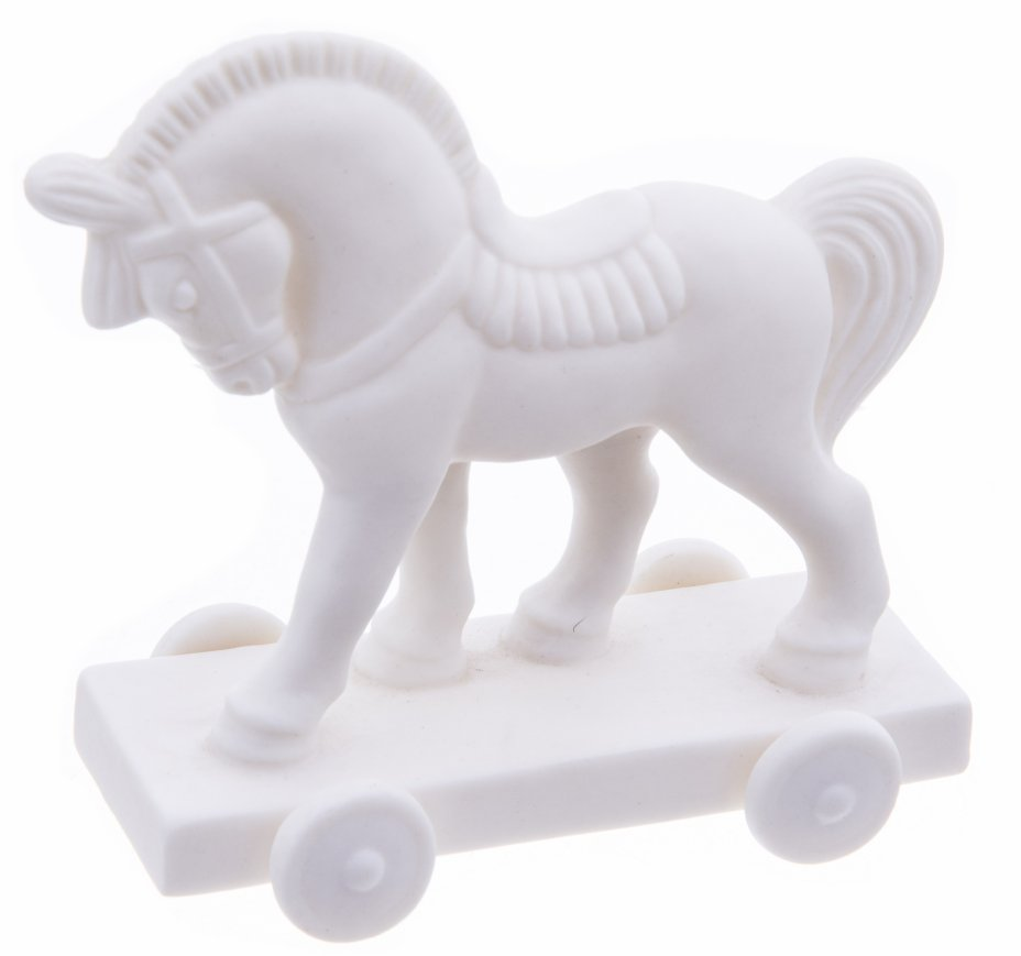 """купить Статуэтка на колесиках """"Лошадь"""", бисквит, Китай, 2000-2020 гг."""