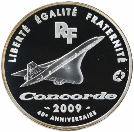 "купить Франция 10 евро 2009 ""Авиалайнер Конкорд"""