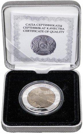 """купить Казахстан 500 тенге 2014 """"Космос - Буран"""", в футляре, с сертификатом"""