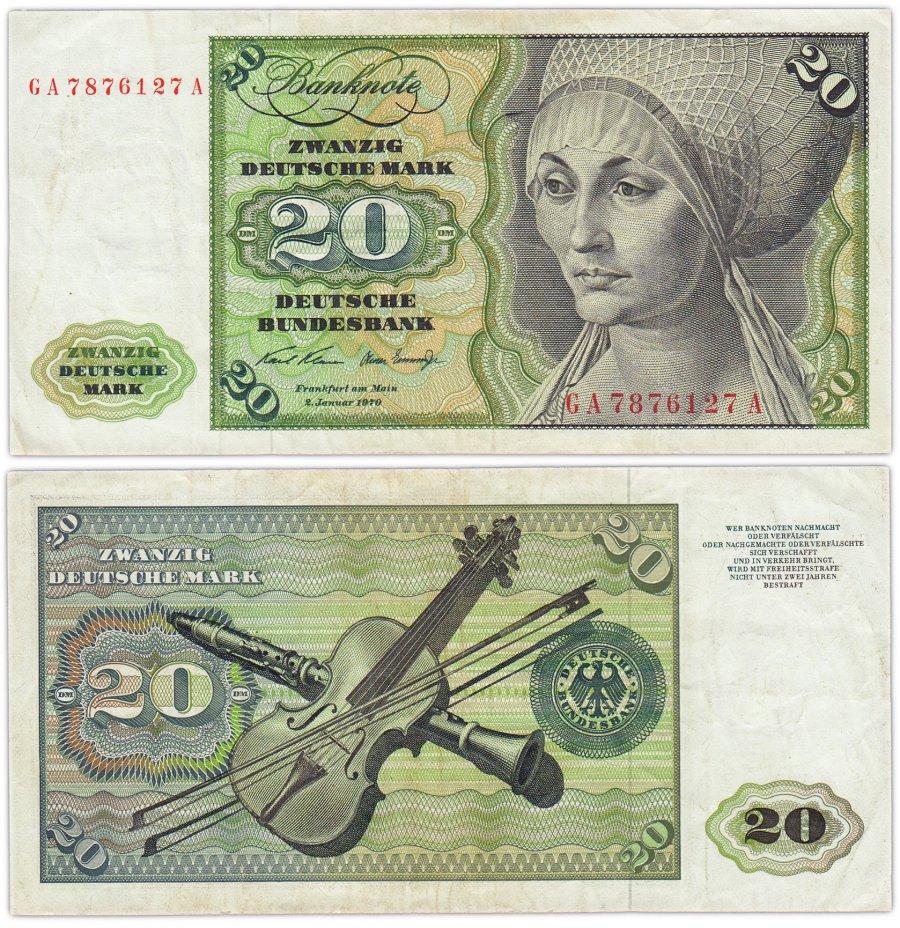 купить Германия ФРГ 20 марок 1970 (Pick 32a(2))