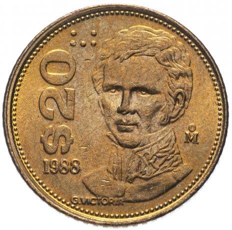 купить Мексика 20 песо (pesos) 1988